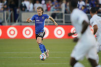 SAN JOSE, CA - JUNE 26: Florian Jungwirth #23 of the San Jose Earthquakes during a game between Los Angeles Galaxy and San Jose Earthquakes at PayPal Park on June 26, 2021 in San Jose, California.