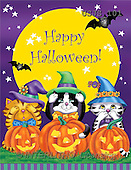Janet, REALISTIC ANIMALS, Halloween, paintings, See No Evil(USJS101,#A#)