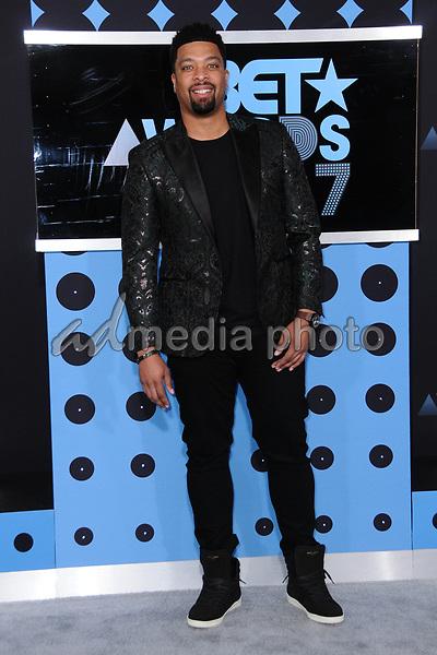 25 June 2017 - Los Angeles, California - DeRay Davis. 2017 BET Awards held at the Microsoft Square in Los Angeles. Photo Credit: Birdie Thompson/AdMedia