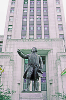 Vancouver: City Hall--Sculpture of Captain George Vancouver by Charles Marega, 1936. Photo '86.