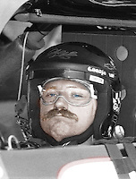 Dale Earnhardt in his race car, Darlington, SC , early 1990's, computer colored. (Photo by Brian Cleary/www.bcpix.com)