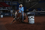 Chani Graves during the second round of barrel qualifiers at the WCRA Stampede at the E. Photo by Andy Watson