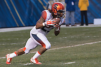 Syracuse kick returner Prince Tyson Gulley. The Pitt Panthers defeated the Syracuse Orange 30-7 at Heinz Field, Pittsburgh, Pennsylvania on November 22, 2014.