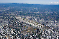aerial photograph Mineta San Jose International Airport, Santa Clara county, California