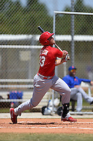St. Louis Cardinals Alex De Leon (43) during a minor league spring training game against the New York Mets on April 1, 2015 at the Roger Dean Complex in Jupiter, Florida.  (Mike Janes/Four Seam Images)