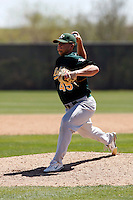 Justin Friend - Oakland Athletics - 2009 spring training.Photo by:  Bill Mitchell/Four Seam Images