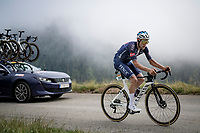 Xandro Meurisse (BEL/Alpecin-Fenix) in the final kilometers up the final climb of the day; the Col du Portet (HC/2215m)<br /> <br /> Stage 17 from Muret to Saint-Lary-Soulan (Col du Portet)(178km)<br /> 108th Tour de France 2021 (2.UWT)<br /> <br /> ©kramon