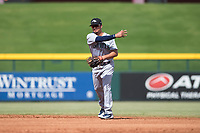 Peoria Javelinas second baseman Chris Mariscal (19), of the Seattle Mariners organization, throws to first base during an Arizona Fall League game against the Mesa Solar Sox at Sloan Park on October 11, 2018 in Mesa, Arizona. Mesa defeated Peoria 10-9. (Zachary Lucy/Four Seam Images)