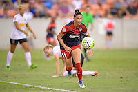 Houston, TX - Sunday Oct. 09, 2016: Ali Krieger during the National Women's Soccer League (NWSL) Championship match between the Washington Spirit and the Western New York Flash at BBVA Compass Stadium.