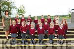 Duagh NS Junior Infants: Mrs Mary Nolan with her junior class on their first day at Duagh NS.