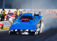 Feb 9, 2018; Pomona, CA, USA; NHRA funny car driver Gary Densham during qualifying for the Winternationals at Auto Club Raceway at Pomona. Mandatory Credit: Mark J. Rebilas-USA TODAY Sports