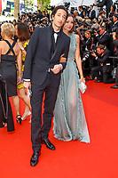Lara Lieto et Adrien Brody sur le tapis rouge pour la soirée dans le cadre de la journée anniversaire de la 70e édition du Festival du Film à Cannes, Palais des Festivals et des Congres, Cannes, Sud de la France, mardi 23 mai 2017.