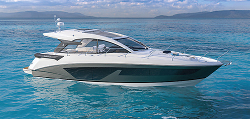 The Gran Turismo 45 sets new standards in terms of functionality and on board hospitality