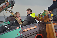 ZEILSPORT: ELAHUIZEN: 29-04-2018, SKS Skûtsjesilen Sprintwedstrijden, schipper Jappie Visser Sneker Pan, ©foto Martin de Jong, ©foto Martin de Jong