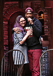"Holli Campbell and Bryan Terrell Clark attends the cast Q & A during The Rockefeller Foundation and The Gilder Lehrman Institute of American History sponsored High School student #EduHam matinee performance of ""Hamilton"" at the Richard Rodgers Theatre on October 24, 2018 in New York City."