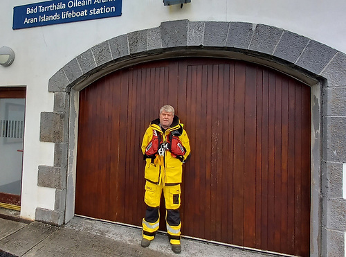 Aran Islands RNLI mechanic Johnny Mulkerrin retires after 35 years of helping to save lives at sea