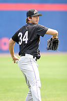 July 7th 2008:  Pitcher Scott Lewis of the Akron Aeros, Class-AA affiliate of the Cleveland Indians, during a game at NYSEG Stadium in Binghamton, NY.  Photo by:  Mike Janes/Four Seam Images