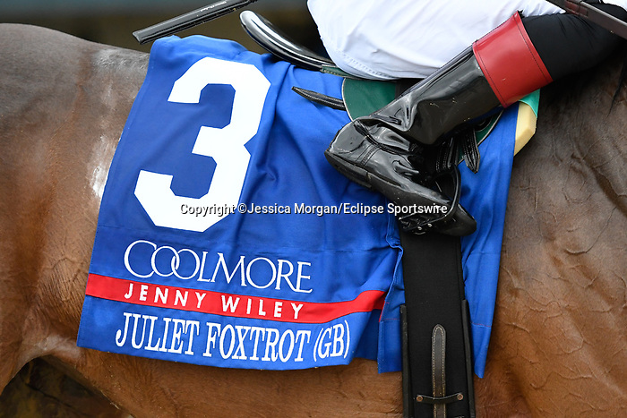 April 10, 2021: Juliet Foxtrot (GB) #3, ridden by jockey Tyler Gaffalione wins the Coolmore Jenny Wiley Stakes (Grade 1) on the turf at Keeneland in Lexington, Kentucky on April 10, 2021. Jessica Morgan /Eclipse Sportswire/CSM