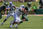 Baylor Bears quarterback Charlie Brewer (12) in action during the game between the Duke Blue Devils and the Baylor Bears at the McLane Stadium in Waco, Texas.