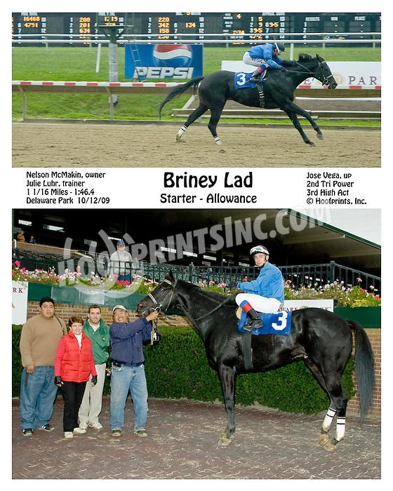 Briney Lad winning at Delaware Park on 10/12/09