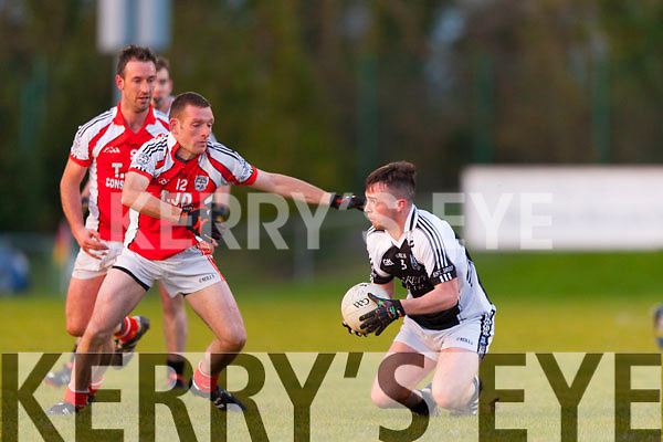 Timmy Finnegan Brosna tackles Glin's Brian Donovan during the Munster junior final in mallow on Sunday