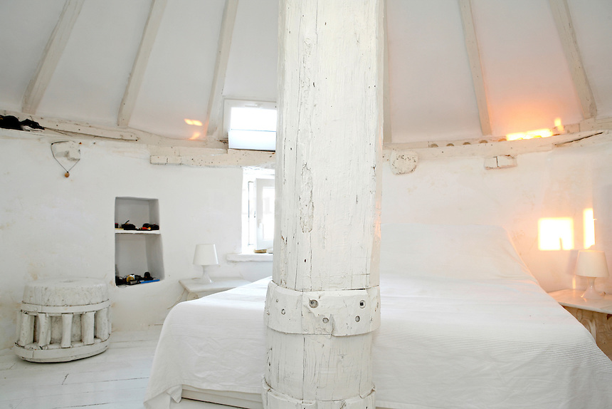Italian businessman Roberto McDonald made the unusual choice of an old windmill for his island retreat.  After completing the restoration and adding the features necessary for a residence (bathroom, kitchen) this home is one of the most charming and unique on the island.