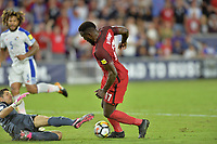 Orlando, FL - Friday Oct. 06, 2017: Jaime Penedo, Jozy Altidore during a 2018 FIFA World Cup Qualifier between the men's national teams of the United States (USA) and Panama (PAN) at Orlando City Stadium.