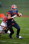 Hornell Red Raiders vs Attica Blue Devils Varsity Football at Attica High School in Attica, New York.  Hornell defeated Attica 34-6.  (Mike Janes Photography)