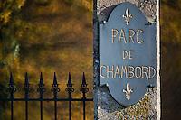 Europe/France/Centre/41/Loir-et-Cher/Sologne/Chambord:Entrée du Parc de Chambord - Domaine National de Chambord // Europe/France/Centre/41/Loir-et-Cher/Sologne/Chambord:Entrance to the Parc de Chambord