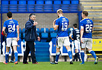 St Johnstone v Dundee…02.10.21  McDiarmid Park.    SPFL<br />A happy saints boss Callum Davidson greets Shaun Rooney and Liam Craig at full time<br />Picture by Graeme Hart.<br />Copyright Perthshire Picture Agency<br />Tel: 01738 623350  Mobile: 07990 594431