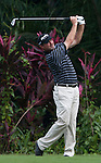 Jerry Kelly in action during Round 1 of the CIMB Asia Pacific Classic 2011.  Photo © Andy Jones / PSI for Carbon Worldwide