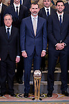 King Felipe VI of Spain receive in audience to <br /> the winner of basketball King's Cup 2017, Real Madrid at Zarzuela Palace in Madrid, Spain. March 06, 2017. (ALTERPHOTOS/BorjaB.Hojas)