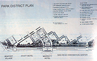 San Diego: Martin Luther King Jr. Park at Convention Center--Plan.  (Aug.  '91)