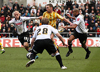 ATTENTION SPORTS PICTURE DESK<br /> Pictured: (L-R) David Cotterill, Thomas Butler and Darren Pratley of Swansea City in action<br /> Re: Coca Cola Championship, Swansea City Football Club v Newcastle United at the Liberty Stadium, Swansea, south Wales. 13 February 2010