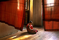 Monk in Sagain, Myanmar ,2005