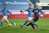 Luis Muriel of Atalanta BC scores the goal of 3-1 during the Serie A football match between Atalanta BC and SSC Napoli at stadio azzurri d'Italia in Bergamo (Italy), February 21th, 2021. Photo Daniele Buffa / Image Sport / Insidefoto