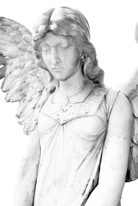 A new addition to a series of images of elaborate cemetery headstones I've created utilizing unique technique to produce an almost charcoal sketch effect.