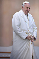 Pope Francis during of a weekly general audience at St Peter's square in Vatican.January 31, 2018