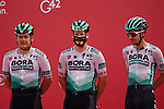Bora-Hansgrohe at sign on before the start of Stage 5 of the 2021 UAE Tour running 170km from Fujairah to Jebel Jais, Fujairah, UAE. 25th February 2021.  <br /> Picture: Eoin Clarke   Cyclefile<br /> <br /> All photos usage must carry mandatory copyright credit (© Cyclefile   Eoin Clarke)