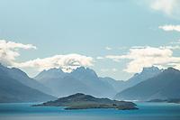Lake Wakatipu with views toward Glenorchy and Mt. Aspiring National Park, UNESCO World Heritage Area, New Zealand, NZ