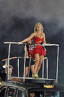 Spice Girls.Geri Halliwell aka Ginger Spice, victoria Bekcham aka Posh Spice.Londra 12/08/2012 Olympic Stadium.London 2012 Olympic Games Closing Ceremony.Olimpiadi Londra 2012 Cerimonia d chiusura.Foto Insidefoto Giovanni Minozzi.