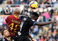 Gaston Ramirez of Sampdoria , Steven Nzonzi of AS Roma , Ronaldo Vieira of Sampdoria compete for the ball during the Serie A 2018/2019 football match between AS Roma and UC Sampdoria at stadio Olimpico, Roma, November, 11, 2018 <br />  Foto Andrea Staccioli / Insidefoto