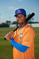 St. Lucie Mets second baseman Luis Carpio (11) poses for a photo before a game against the Florida Fire Frogs on April 19, 2018 at Osceola County Stadium in Kissimmee, Florida.  St. Lucie defeated Florida 3-2.  (Mike Janes/Four Seam Images)