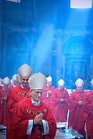 Cardinal Raffaele Farina,Pope Benedict XVI during a Mass  for cardinals and bishops deceased over the year, inside St. Peter's  Basilica,  at the Vatican.Nov. 3, 2008.         .