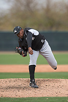 Chicago White Sox relief pitcher Greg Minier (87) during a Minor League Spring Training game against the Chicago White Sox at Camelback Ranch on March 16, 2018 in Glendale, Arizona. (Zachary Lucy/Four Seam Images)