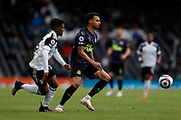 23rd May 2021; Craven Cottage, London, England; English Premier League Football, Fulham versus Newcastle United; Jacob Murphy of Newcastle United marked by Tyrese Francois of Fulham