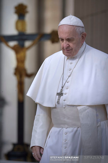 Pope Francis during of a weekly general audience at St Peter's square in Vatican, Wednesday, October. 31, 2018.