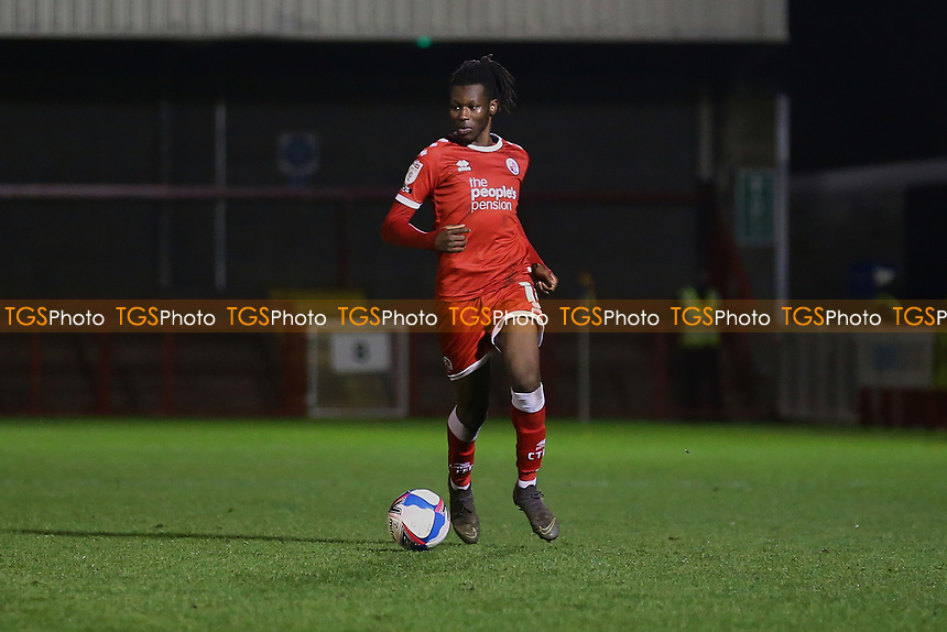 David Sesay of Crawley Town during Crawley Town vs Barrow, Sky Bet EFL League 2 Football at Broadfield Stadium on 12th December 2020