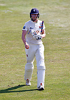 Zak Crawley of Kent walks off after being dismissed by Dillon Pennington during Kent CCC vs Worcestershire CCC, LV Insurance County Championship Division 3 Cricket at The Spitfire Ground on 5th September 2021
