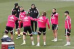 Real Madrid's Alvaro Arbeloa, Jese Rodriguez, Sergio Ramos, Asier Illarramendi, James Rodriguez, and Isco during training session.January 30,2015.(ALTERPHOTOS/Acero)